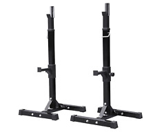 NEW Squat Racks Heavy Duty Squat Rack Stand Power Weight Bench Home Training