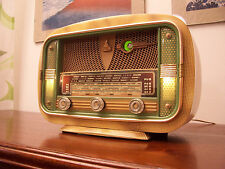 ANTICA_RADIO Familial Salon 527A TSF Tube Radio Tuberadio Restored Art Decò