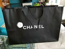 LARGE Authentic CHANEL Black Shopping Gift Bag  Camellia Flower 22.5 x 16 x 6.5