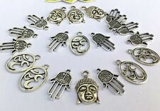 18 Mix x Large Oval Ohm, Buddha , Hamsa, Charms 22mm *to clear *