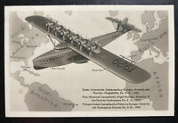 1932 Biegel Germany RPPC Real Picture Postcard Cover Do X Seaplane Type