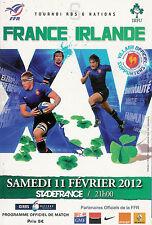 France/irlande rugby programme 11 fév 2012 rbs six nations championship