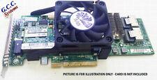 More details for sas card cooler mount bracket clip 4 h220 9207-8i (60mm cooling fan), w/screws