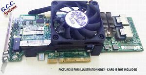 SAS Card Cooler Mount Bracket Clip 4 H220 9207-8i (60mm Cooling Fan), w/Screws