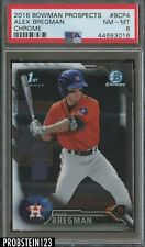 2016 Bowman Chrome Alex Bregman Houston Astros RC Rookie PSA 8 NM-MT