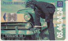 France télécarte 50 Peugeot assitance