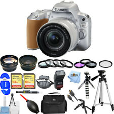 Canon EOS 200D / Rebel SL2 DSLR Camera W/ 18-55mm Lens (Silver) MEGA BUNDLE NEW!