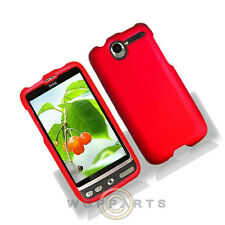 HTC ADR6275 Desire Shield Red Rubberized Case Cover Shell Protector Guard Shield