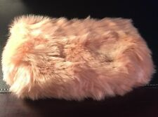 Ryan Roche For Beauty.com Nude Pink Faux Fur Cosmetic Bag Case New