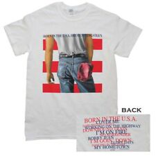 Bruce Springsteen - Born in The USA T-shirt White Shirt Tee 8057642 XL