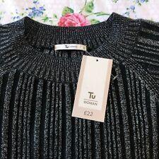 TU cabaret dress, UK size 22, Black sparkly, party dress, long sleeve, plus size