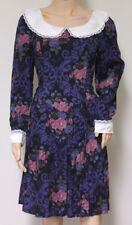 vtg 1980s GUNNE SAX by JESSICA MCCLINTOCK floral brocade peter pan collar dress