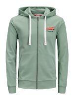 Jack and Jones jorsummertime zip hood sweat light green top hoody hoodie