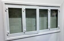 ALUMINIUM BIFOLD WINDOW 4 PANEL, NEW 2400 x 1200h, WHITE