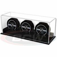 BCW Acrylic Triple Hockey Puck Display Case