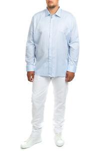 FRAY Shirt Size 5XL Round Hem Long Sleeve Regular Collar Made in Italy