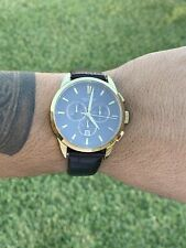 Candino Gold Brown Chronograph Mens Watch w/ Leather Strap