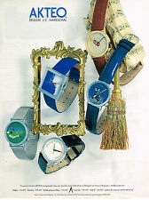 PUBLICITE ADVERTISING 025  1995  AKTEO   collection montres
