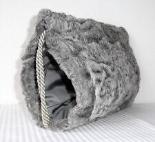 Persianer Tasche MUFF Pelztasche Handwärmer persian fur bag gray Pelz Vintage
