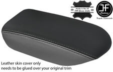 BLACK & GREY  TOP GRAIN REAL LEATHER ARMREST COVER FITS GT-R GTR R35 2009-17