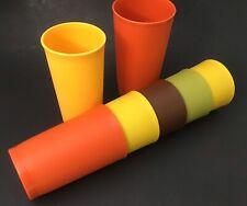 5 Vintage Tupperware 8 oz Cups Weighted Harvest Tumblers #1320 + 1 #873 & 1 #116