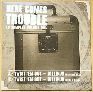 """Dillinja – Here Comes Trouble 12"""" Vinyl Record TOV56 Dylan Remix Drum and Bass"""