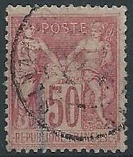 1898-00 FRANCIA USATO SAGE 50 CENT I TIPO - EDF005