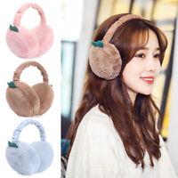 Women Plush Earmuffs Fur Solid Color Ladies Ear Muffs Winter Warm Ear Warmers