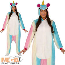 Unicorn Jumpsuit Ladies Fancy Dress Fairy Tale Animal Adults Book Day Costume