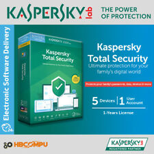 Kaspersky Total Security 5 Devices | 2019 /365 Days | Download | Code Key Only