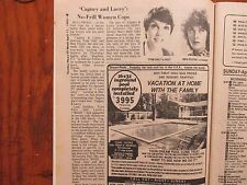 April-1982 Lancaster Pa TV Week(CAGNEY & LACEY/MEG  FOSTER/TOM SELLECK/TYNE DALY