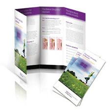 """500 Roll Fold Glossy Brochures REAL PRINTING not copies 8 1/2"""" x 11"""" Full Color"""