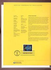 #4019 $14.40 X-Plane  USPS #0619 Souvenir Page