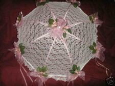 "32"" Bridal Shower  Mauve Dusty  rose UMBRELLA PARASOL"