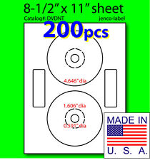 200 Neato Compatible CD/DVD Labels, Matte White Laser InkJet