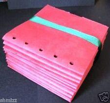 RED 6X6 SEWN  paper bag scrapbook albums 20 books album