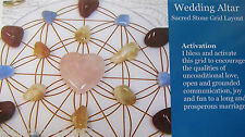 "1 Grid Layout Card WEDDING ALTAR  4""x5"" Cardstock Healing Crystals MARRIAGE LOVE"