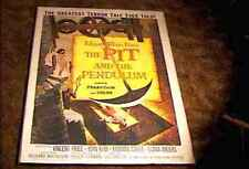 PIT & PENDULUM ORIG MOVIE POSTER 1961 EDGAR ALLAN POE VINCENT PRICE GREAT