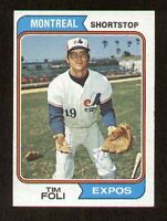 Tim Foli #217 signed autograph auto 1974 Topps Baseball Trading Card