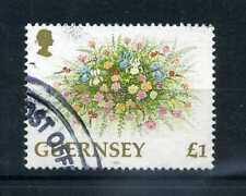 GUERNESEY - 1992 - timbre 574, Fleurs, oblitéré