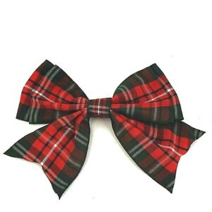 Tartan Giant Double Bows Ribbon Bows Tails ,120mm 4 and half wide, Christmas