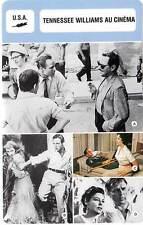 FICHE CINEMA :  TENNESSEE WILLIAMS AU CINEMA (Bio/Filmo) Taylor,Burton...
