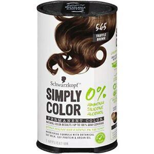 Schwarzkopf Simply Color 5.65 Truffle Brown Permanent Hair Color No Ammonia