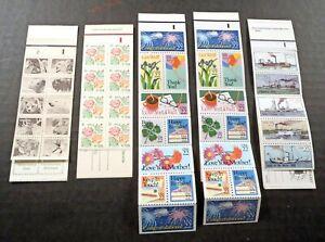 US Scott # 1737a 1889a 2274a x2 & 2409a MINT Booklets Panes (one partial) CV$22