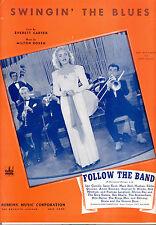 "FOLLOW THE BAND Sheet Music ""Swingin' The Blues"" Mary Beth Hughes Eddie Quillan"
