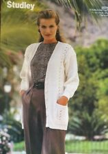 "DK  Knitting Pattern ladies  Lacy Cardigan Size 28/42"" Chest"