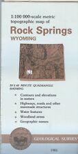 USGS Topographic Map ROCK SPRINGS - Wyoming - 1981 - 100K -