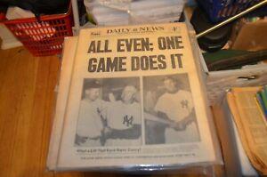 1955 World Series - Dodgers vs Yankees - Baseball -New York Daily News 10/2/55