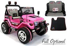 Auto Macchina Elettrica Jeep 12 V 2 Posti Per Bambini Pink Rosa