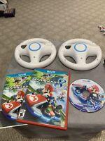 Mario Kart 8 (Nintendo Wii U, 2014) with manual And Steering Wheels (2)